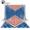 Allenjoy Backdrops Photography Red White Blue American Flag Independence Day Cowboy Photo Background Fantasy Photography Props