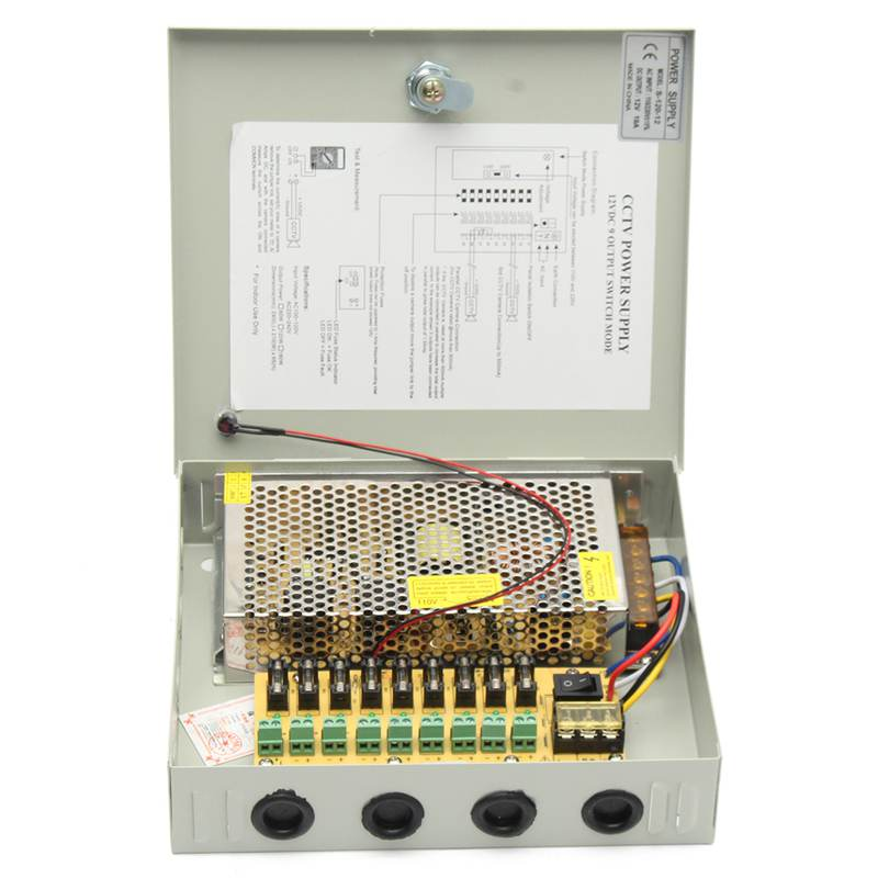 9 Channel 10A 120W AC 110V-250V To DC 12V 8CH LED Switching Power Supply Distribution Box For CCTV Security Camera цены