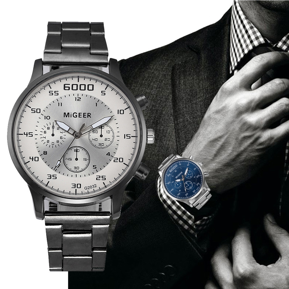 Men Watch luxury Fashion Men Crystal Stainless Steel Analog Quartz Wrist Watch Bracelet #1208 smileomg hot sale fashion women crystal stainless steel analog quartz wrist watch bracelet free shipping christmas gift sep 5 page 5