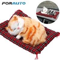 Voiture ornements mignon Simulation dormir chats tableau de bord décoration belle peluche chatons poupée jouet voiture-style intérieur accessoires