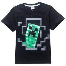 Топ Летом С Коротким Рукавом MineCraft футболки для 2-14 Лет Мальчики одежда haut enfant fille Детские Футболки Девушки футболки Мальчики Топы(China (Mainland))