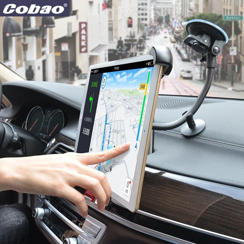 Cobao universal 9.5 9.7 10 11 12.9 14.5 polegada carro brisa tablet pc suporte de navegação tablet para carro para ipad pro