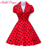 GK 2015 Fashion Stock Cotton Vestidos Verano Mujer Vintage Dresses Swing Pinup Rockabilly Women Short Party