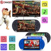 2017 New Arrival 5.0 Large Screen Handheld Game Player Support TV Out Put With MP3/Movie Camera Multimedia Video Game Console(China)