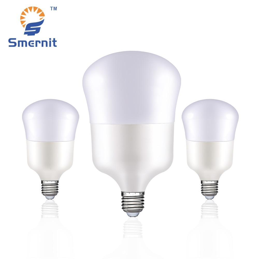 Smernit LED Bulbs E27 5W 9W 13W 22W 26W 35W AC165-265V High Power Lampada Brightness Lamps 220V LED Lights Lighting White Light led gold deco chandelier bulbs candle light e14 85 265v 5w lamps