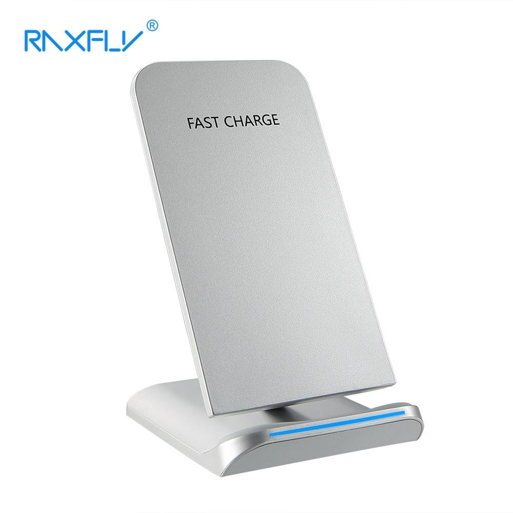 RAXFLY Drahtlose Ladegerät Für iPhone X 10 8 Samsung Galaxy S9 S8 Plus Note 8 S6 S7 Egde Schnelle Qi Ladegerät Drahtlose Handy Desktop