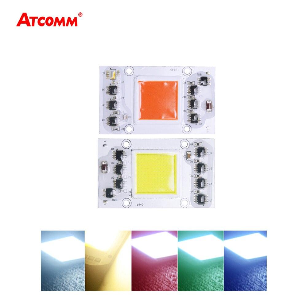 все цены на  Cob LED Matrix Smart IC Chip Lamp 20W 30W 40W 50W 220V LED Light Diode Array For Searchlight Floodlight Red Green Blue White  онлайн
