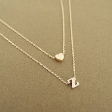 Summer fashion style Double heart combination letter pendant necklace font fascinating