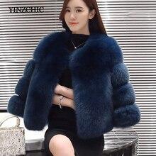 Suave de invierno de mujer abrigo de piel cuello cálido abrigos de piel sintética Mujer Regular sólido Color grueso Artificial abrigos de piel de las mujeres