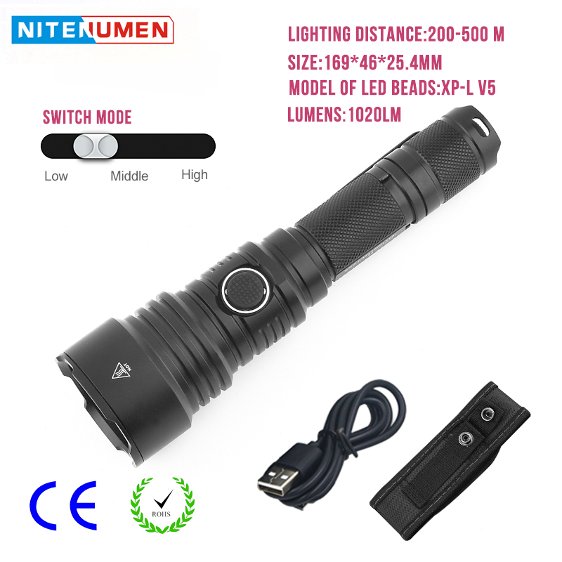 LED Flashlight USB Rechargeable LED Torch Pocket Tactical Switch Strong Light Waterpoof Outdoor Emergency Night Lamp Camping usb rechargeable portable led lamp bulb emergency light with switch high quality