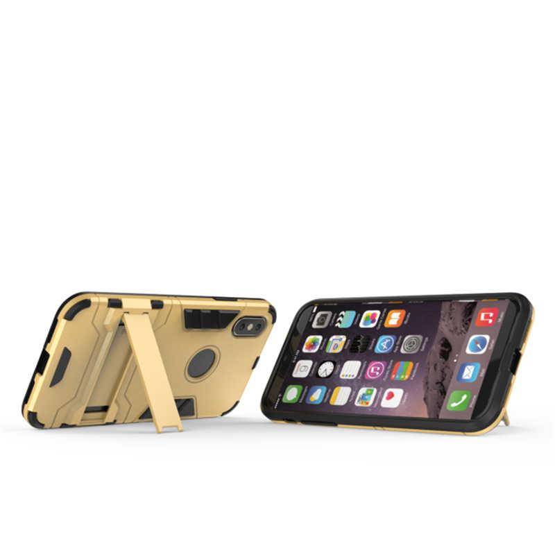 Чехол Armor iron man для IPhone X 5 5S SE 6 6s 7 8 Plus, ультра тонкий ударопрочный каучук, Coque, задняя крышка с подставкой