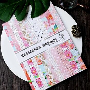 KSCRAFT 24 قطعة واحدة-الجانب المطبوعة جميل الزهور نمط الإبداعية papercraft ورق فني اليدوية سكرابوكينغ عدة مجموعة كتاب