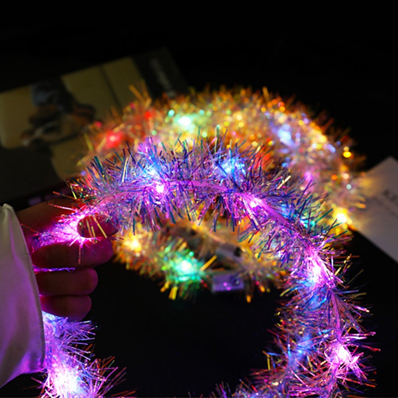 1pcs Girls Circular Hair Ornament LED Light Glowing Flower Head Ring Headwear Toys For Children Outdoor Evening Show Party