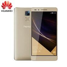 Original HUAWEI HONOR 7 16/32/64GB ROM 3G RAM Mobile Phone Hisilicon Kirin 935 Octa Core 5.2 inch 20MP 4G LTE Fingerprint