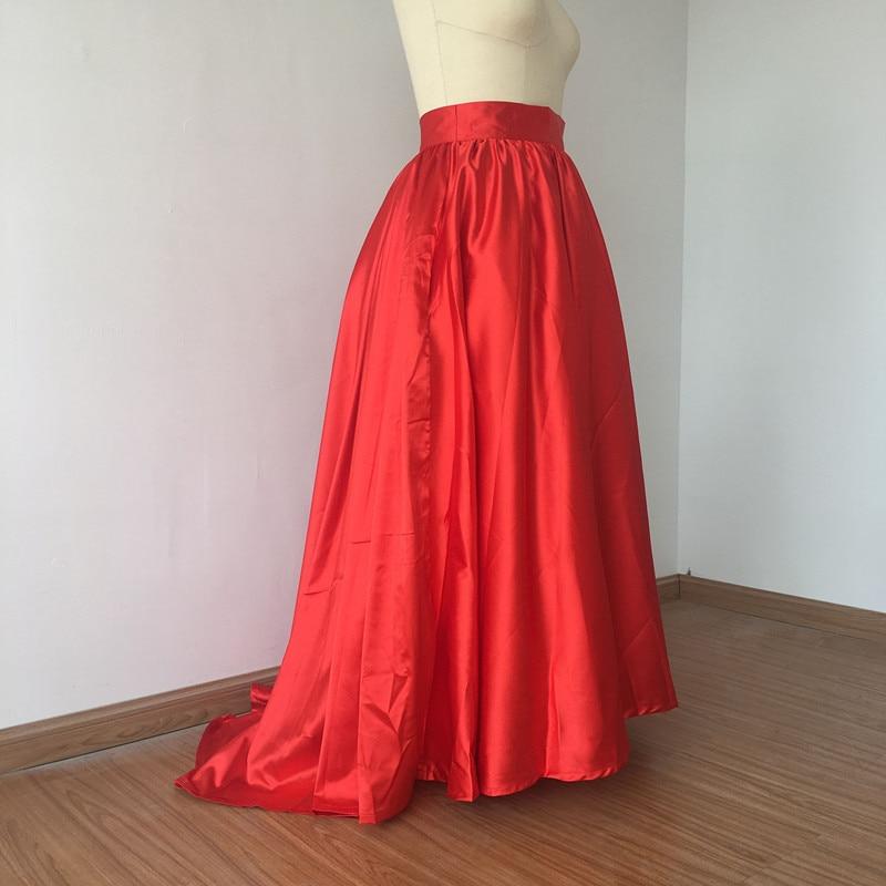 A Size Inverno Alta Autunno Red Solid Maxi Caldo Wbctw Le Lunga Runway Plus Tutu Donne Lungo Nero 7xl Gonna Il Vintage Donna rosso Vita Per Pieghettato HwxEzq