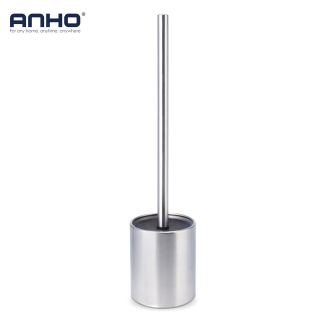 Stainless Steel Toilet Bowl Brush Bathroom Cleaning Tool Holder With Base Toilet Brush Home Cleaner