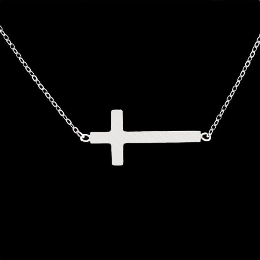 Aliexpresscom Buy Stainless Steel Sideways Women Cross Pendant
