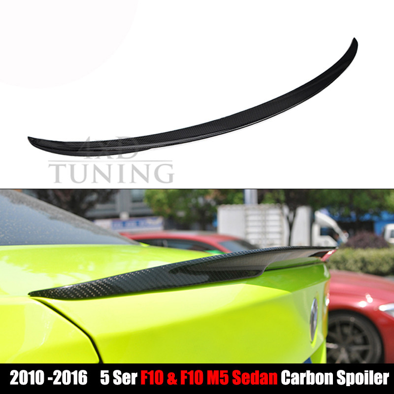 ФОТО Performance Style For BMW 5 Series F10 & F10 M5 Carbon Fiber Rear Wing Spoiler 2010 2011 2012 2013 2014 2015 2016 2017