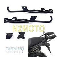 For Honda CB500X CB500XA Black Rear Luggage Carrier Rack Bracket Passenger Holder Top Case Plate Brackets 2013 2016