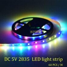 DC 5V 2835 Led Strip Waterproof USB power LED RGB 60 pcs/M Suitable for Garden Living Room Decoration Multiple Color
