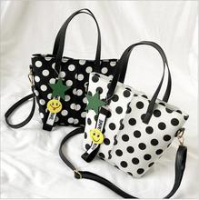 Fashion Simple Women Polka Dot Handbag Casual Female Shoulder Bags Causal Ladys Crossbody Bag Simle Messenger