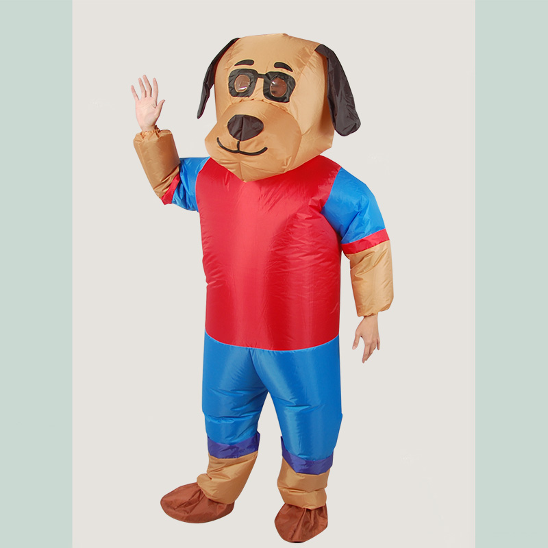New Design Dog Cartoon Inflatable Costume Adult Animal Cosplay Clothing Party Funny Props for Halloween Blow Up Costume-in Holidays Costumes from Novelty & Special Use    3