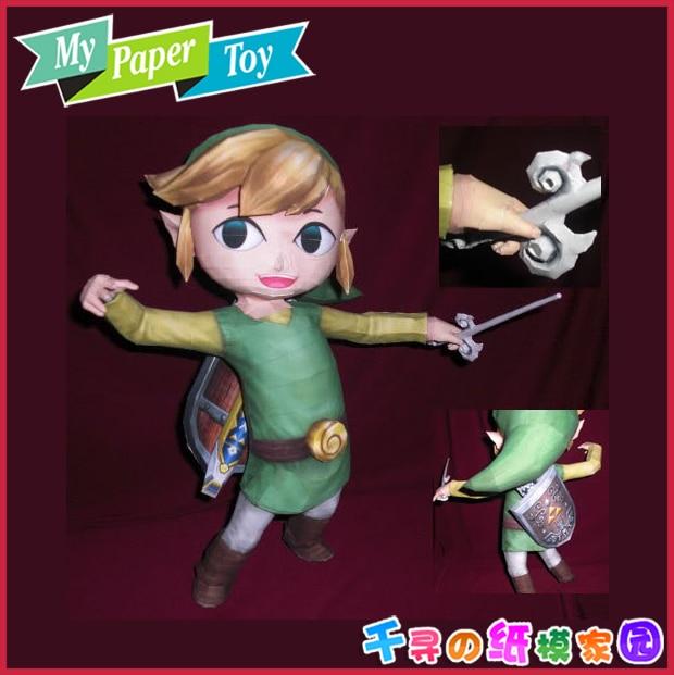 Cartoon Comic Game The legend of Zelda Lynk 3D Paper Model DIY Manual font b Toy