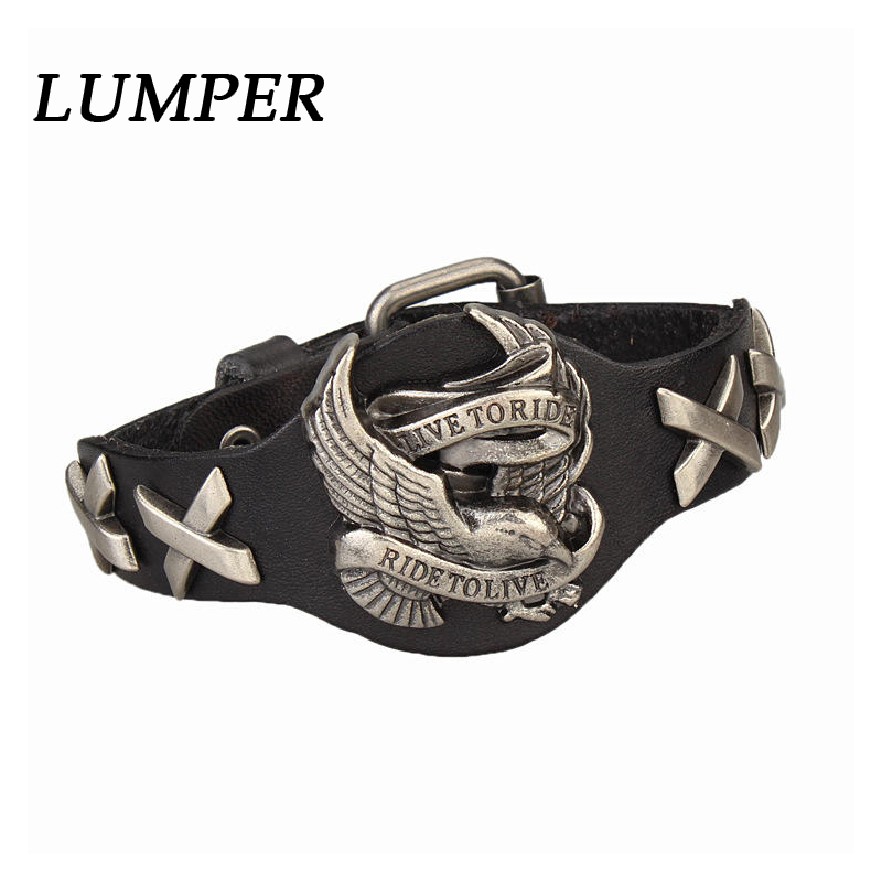 LUMPER New style bangle&bracelet leather braided charm elegant chaim womens jewelry 1012
