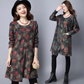 Pregnancy Clothes Pregnant Women  Floral Linen Cotton O-Neck Loose Casual Maternity Dress CE302
