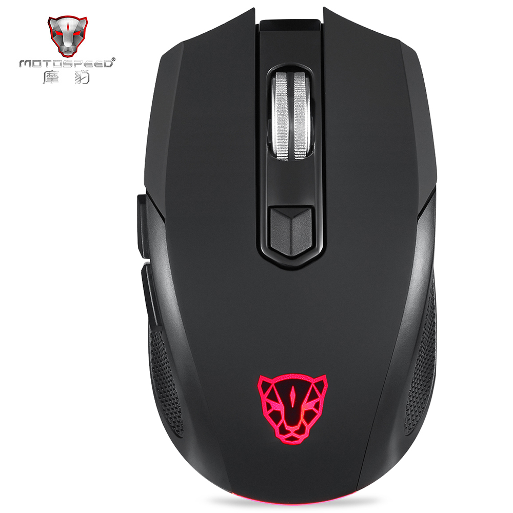 MOTOSPEED BG50 2.4GHz + Bluetooth Dual Mode Wireless Mouse Bluetooth Mouse Upgrade Level With Box Non-slip RGB Luminous
