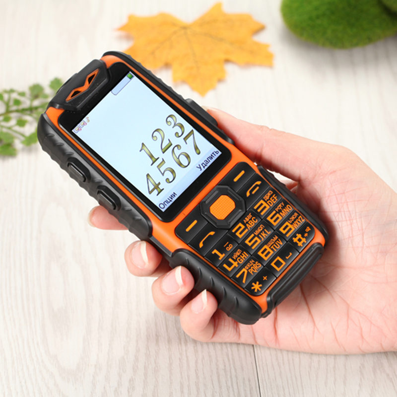 Rubber Dual Sim Torch Big Key Car Driving Recorder Power Bank Long Standby Outdoor Shockproof Rugged