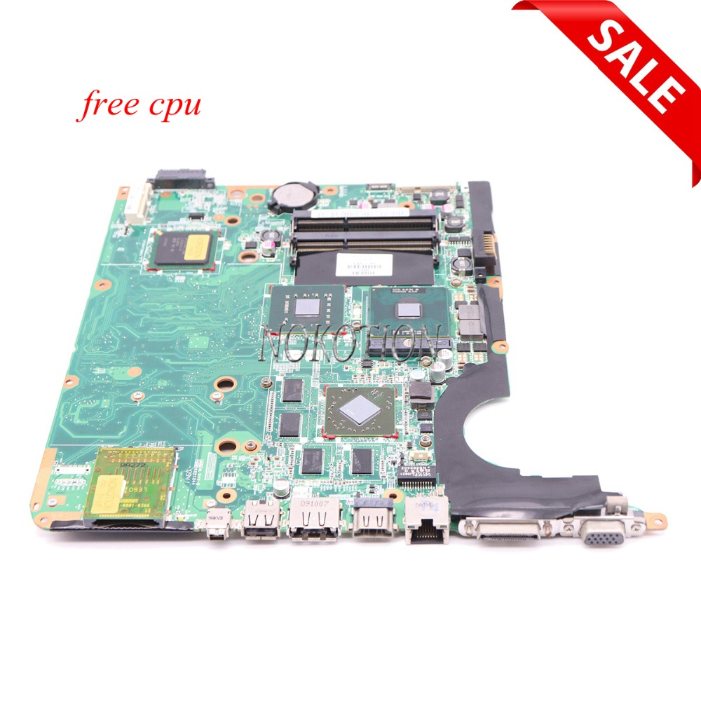 NOKOTION 578377-001 Laptop motherboard For Hp Pavilion DV6 DV6-1000 Main board PM45 DDR3 with Graphics Card Free CPU nokotion laptop motherboard for hp pavilion dv3 intel pm45 ddr2 with nvdia graphics kjw10 la 4735p 576795 001