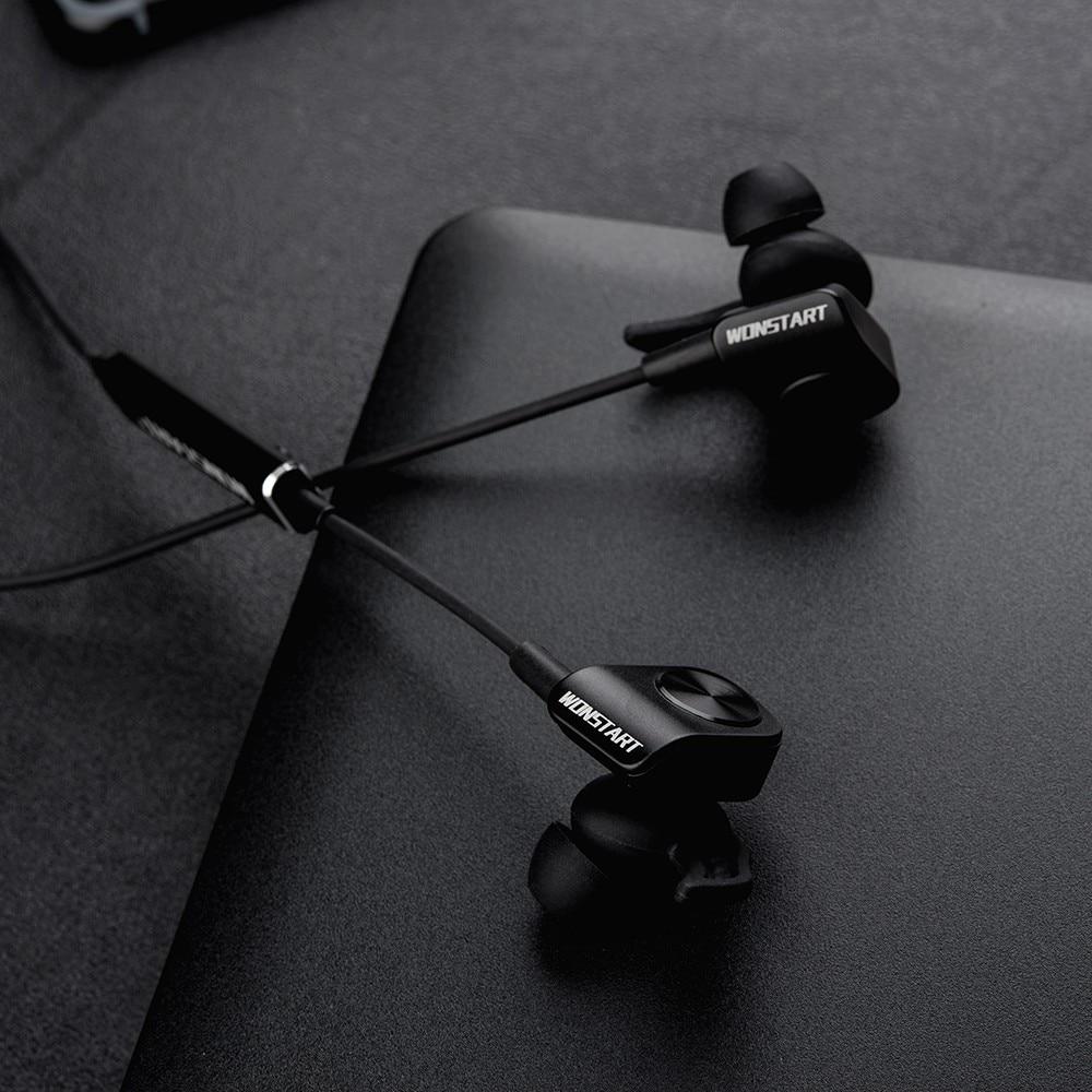 Wonstart TS 03 Sport Bluetooth Headphones Running Wireless Earphones Stereo Noise Cancelling Wireless Earbud Sweatproof Headset wireless bluetooth sport earphone noise cancelling sweatproof earbuds magnetic earphones