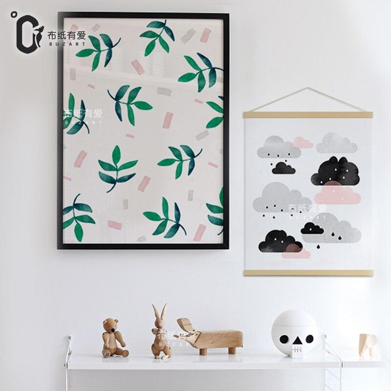 Hujan Nursery art cetakan dan poster untuk kamar anak-anak Kanvas - Dekorasi rumah - Foto 5