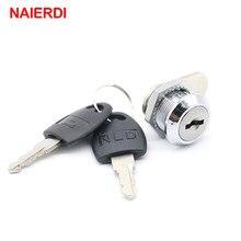 NAIERDI Cam Cylinder Locks Door Cabinet Mailbox Padlock Drawer Cupboard Box Lock With 2 Keys For Furniture Hardware 103 Series