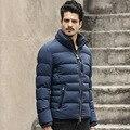 Nueva Marca de Moda de Ropa de Invierno de Los Hombres Abajo Chaqueta Soporte Callor Hombres Chaqueta Parka de Invierno Business Casual Para Hombre de Las Chaquetas Y Abrigos