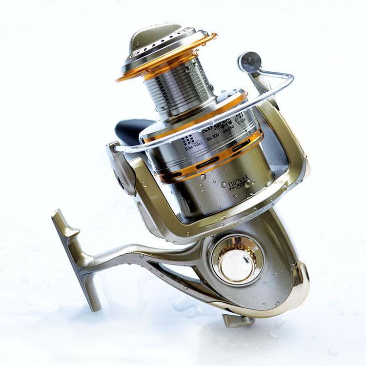 Cheap 1000-11000 Series Spinning Fishing Reel Saltwater 11 Bearing Trolling Sea Surf Casting Reels Low Profile Wheel China  (1)
