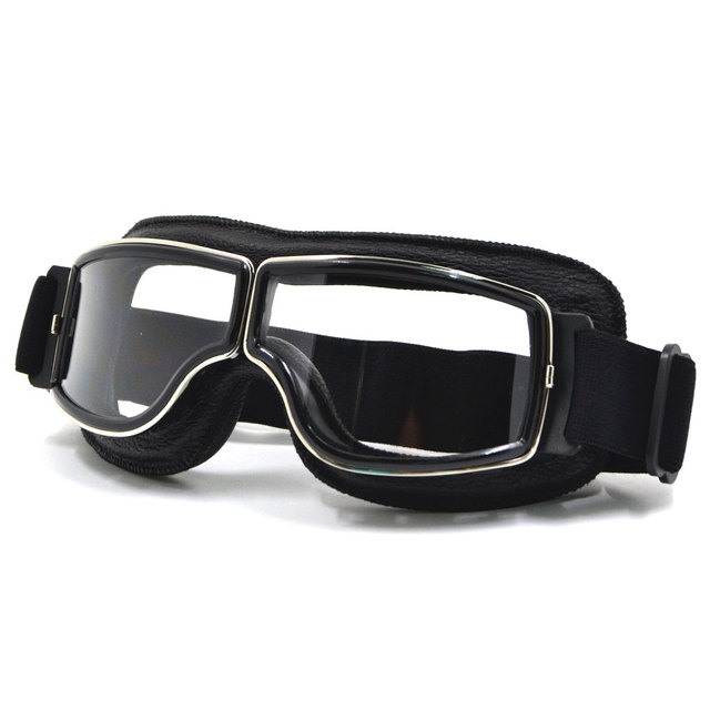 7ca132f62c BJMOTO Vintage para Harley casco de motocicleta estilo gafas de piloto  aviador gafas Cruiser Steampunk con