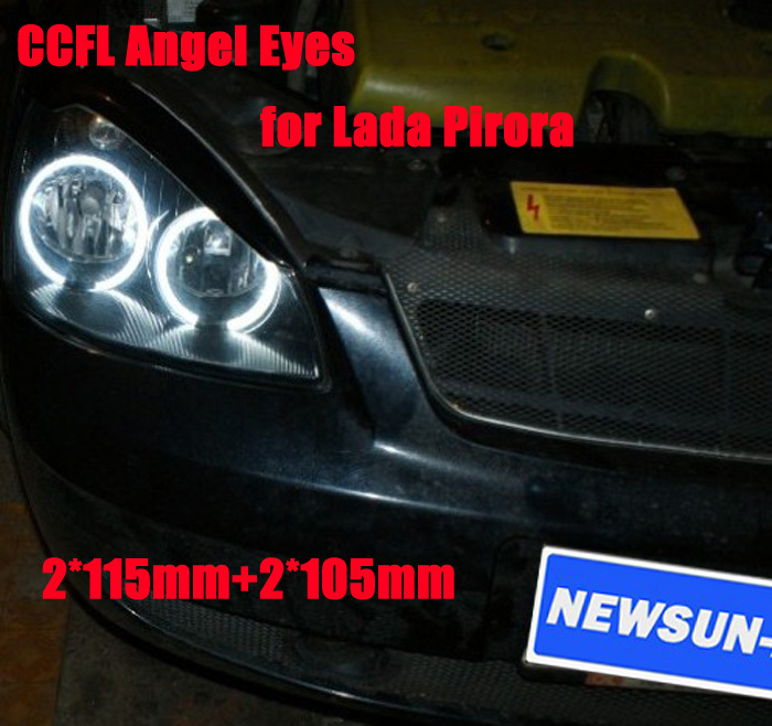 Super Bright CCFL Angel Eyes for Lada Pirora Halo rings ,Car ccfl Angel Eyes kit,auto headlight free shipping for honda odyssey 4th g rb3 rb4 chassis 2008 present excellent ultrabright headlight illumination ccfl angel eyes kit halo ring