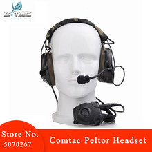 Z-TAC Combat I Tactical Noise Reduction Earphone with Z112 PTT Comtac Peltor Headset Z054 Stand Rrb Version Tactical Headset(China)
