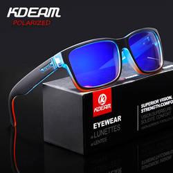 KDEAM Revamp спортивные мужские солнцезащитные очки поляризованные KDEAM шокирующие цвета солнцезащитные очки Открытый Elmore Стиль Солнцезащитные