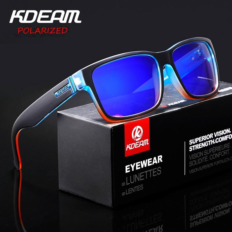 KDEAM Umbau Von Sport Männer Sonnenbrille Polarisierte KDEAM Erschreckend Farben Sonnenbrille Outdoor Elmore Stil Sonnenbrille Mit Box XH1