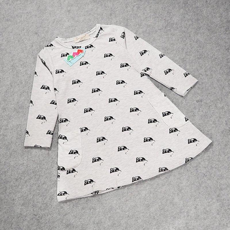 Nuevo 2-7y chica lindo patrón de caracteres ratón bebé vestido niños ...
