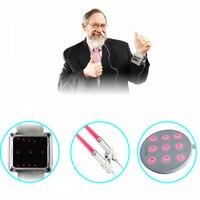 Низкоуровневый лазер терапия LLLT лазерные часы акупунктурный стимулятор 650nm лазерная терапия диабет варикозное расширение вен артрит