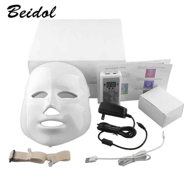 3 colors ultrasonic cleansing instrument nutrient lead in device for facial whitening anti acne anti wrinkle for home use Korean LED Photodynamic Facial Mask Home Use Beauty Instrument Anti-acne Skin Rejuvenation LED Photodynamic Beauty Mask 3 colors