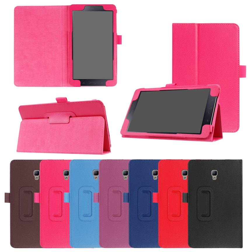 Delgado plegable del caso del soporte cubierta con auto Wake/Sleep para Samsung Galaxy Tab a 8.0 T380 T385 2017 OC24