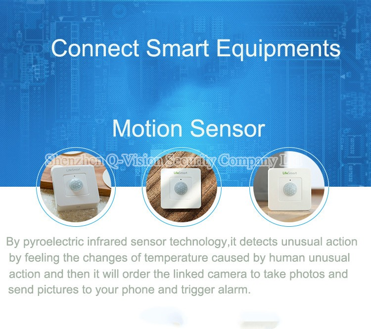 7--Lifesmart Smart Sensor Wireless Motion Detector For Home Automation Remote Control by IOS Android Compatible with Smart Station