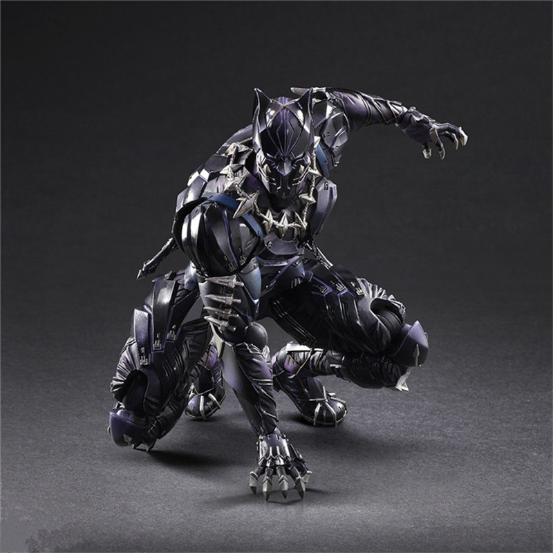 2018 Marvel Avengers Infinity War PLAY ARTS 27cm Black Panther Super Hero Action Figure Model Toy in Action Toy Figures from Toys Hobbies