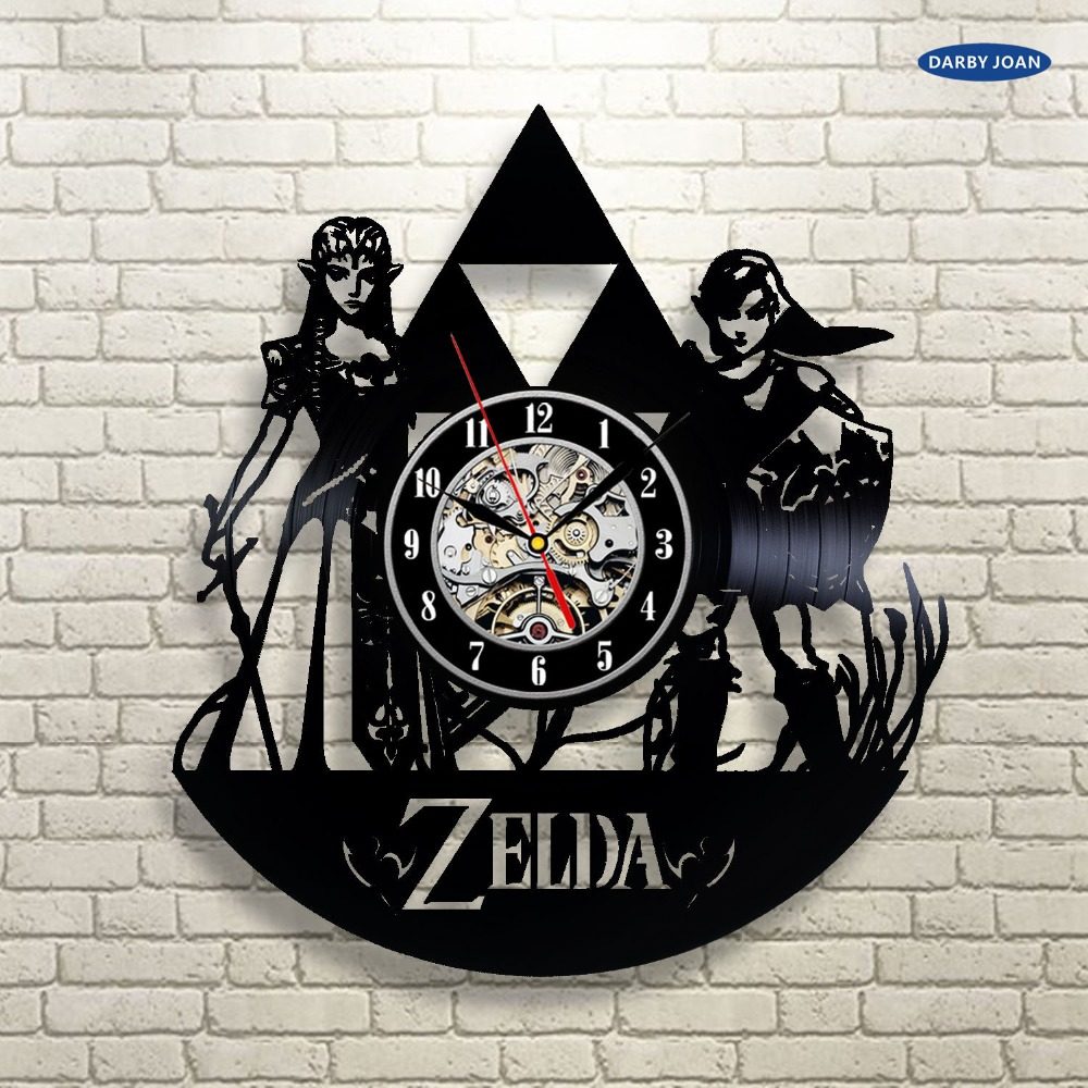 Legend Of Zelda Handmade Link Art Vinyl Record Clock Wall