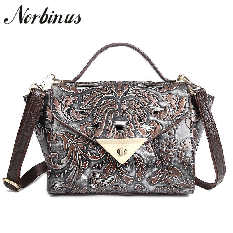 Norbinus Women Shoulder Bags Genuine Leather Messenger Bag Cowhide Small Tote Female Luxury Crossbody Bag for Woman Top Handbags mlhj fashion female genuine leather small shoulder bag women clutch bag luxury women messenger cross body crossbody bag woman